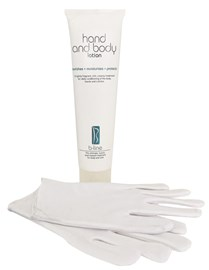 Hand and Body Lotion 150ml plus white gloves